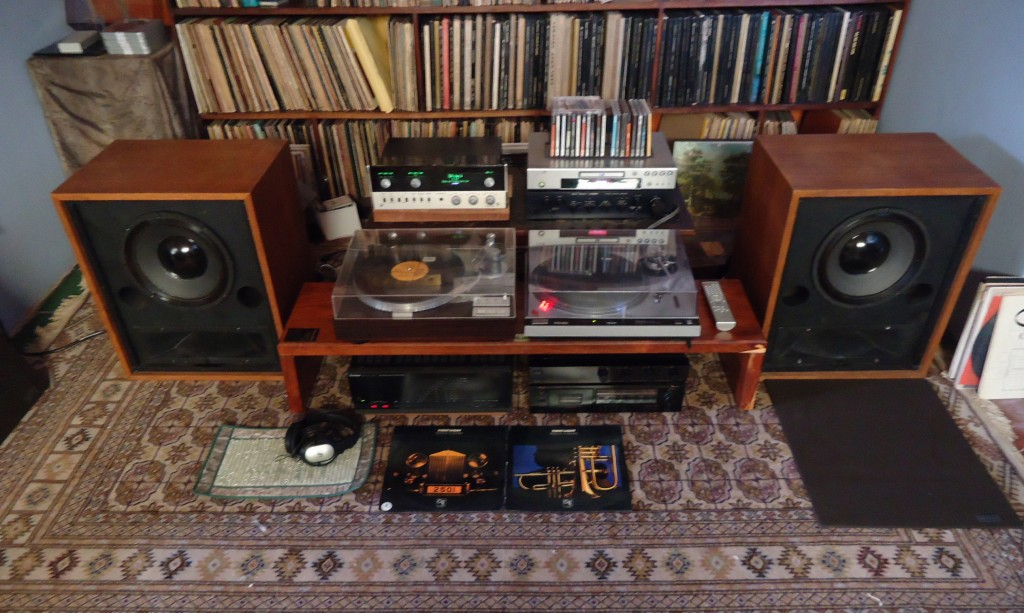 Doble cadena de grado audiófilo con diferentes equipos para la reproducción de diversos sistemas de fonocaptura: discos de vinilo, deck de casette y reproductor de CDs y otros formatos digitales. Marcas seleccionadas.