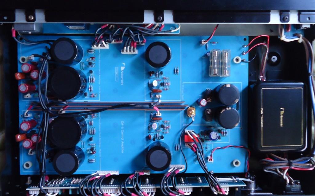 Circuiteria del Preamplificador NAKAMICHI CA 5 diseñada por NELSON PASS, año 1982.