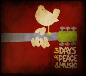 logotipo pacifista del festival de Woodstock