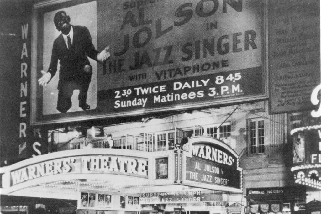 """Estreno de la película sonora """"The jazz Singer"""" en el teatro Warners d Hollywood. 1927. Sonido por ALTEC LANSING."""