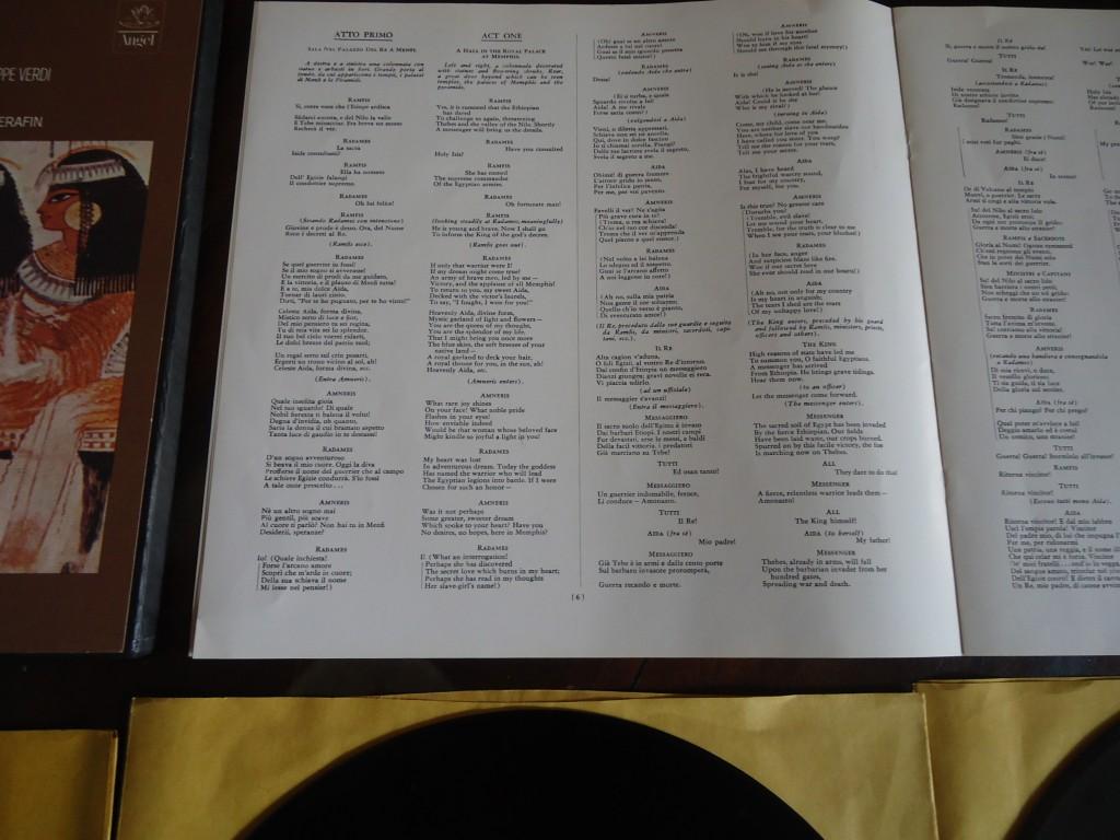 La Scala Orquesta ,Coro conducido por Tullio Serafin. Angel 3525 C/L  Vynil: NM   Portada: Vg++