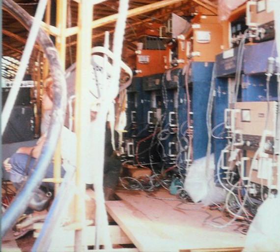 Sala de amplificadores del sistema de control de sonido de Woodstock 69.
