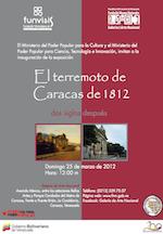 2012 marzo. El terremoto de Caracas de 1812. Dos siglos después.