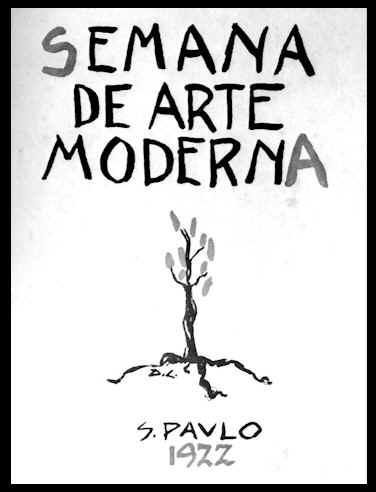 AFICHE DE LA SEMANA DE ARTE MODERNO, BRASIL 1922