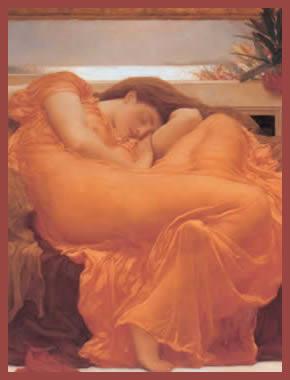 Lord Frederic Leighton - Flaming June - Óleo sobre tela - 119.38x119.38 cms - 1895 - Museo de Arte de Ponce