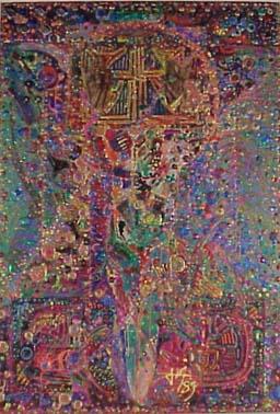 <b>T&iacute;tulo:</b> Piel de Laberinto &nbsp;&nbsp;&nbsp; <b>Autor:</b> Miguel Von Dangel &nbsp;&nbsp;&nbsp; <b>Dimensiones:</b> (130 x 90) cm &nbsp;&nbsp;&nbsp; <b>A&ntilde;o:</b> 1989