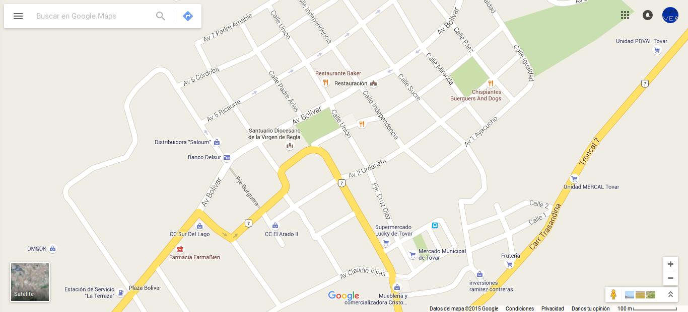 google maps en español venezuela