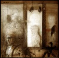 Bautizados y herejes. 1979. Carboncillo y acrílico sobre tela. 161 x 161 cm. FMN