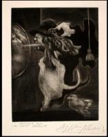 Homenaje a la calle Spadzispa. 1975. Mezzotinta (1/20). 14,8 x 11,3 cm. FMN.